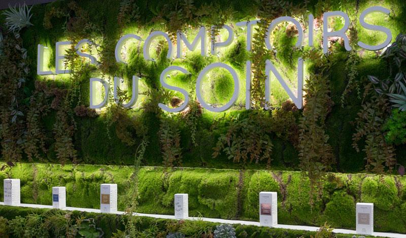 mur vegetal comptoirs du soin